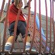 ロープの吊橋